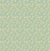 Lewis & Irene Flo's Little Flowers - 5000 - Daffodils on Pale Blue - FLO3-3 - Cotton Fabric